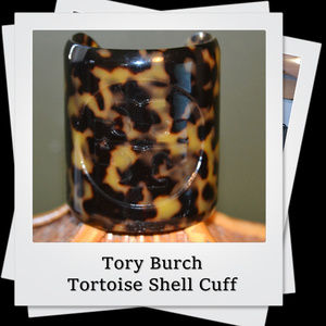 EUC | Tory Burch Tortoise Shell Cuff Bracelet